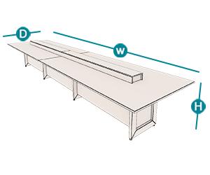 میز گردهمایی آرمز تیپ 702C