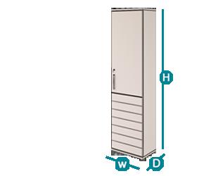 کمدهای بلند شیدر تیپ 1204-45