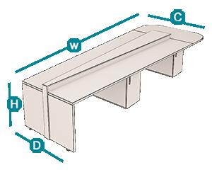 میز گردهمایی شیدر تیپ 704C