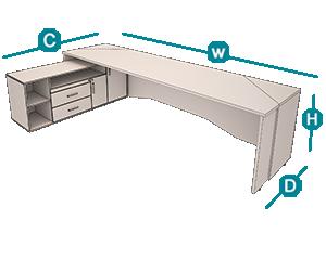 میز مدیریت رامبیکن تیپ 134L